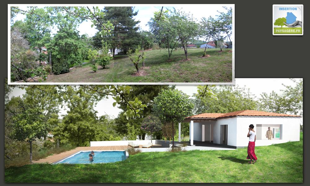 Insertion paysagre fr images plans document for Exemple de jardin de maison